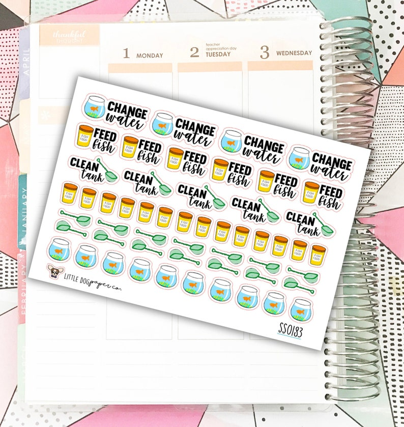 SS0183 // Pet Fish Stickers // Planner Stickers image 0
