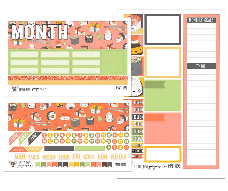 MNTH031 // Monthly View Kit // Sushi image 0