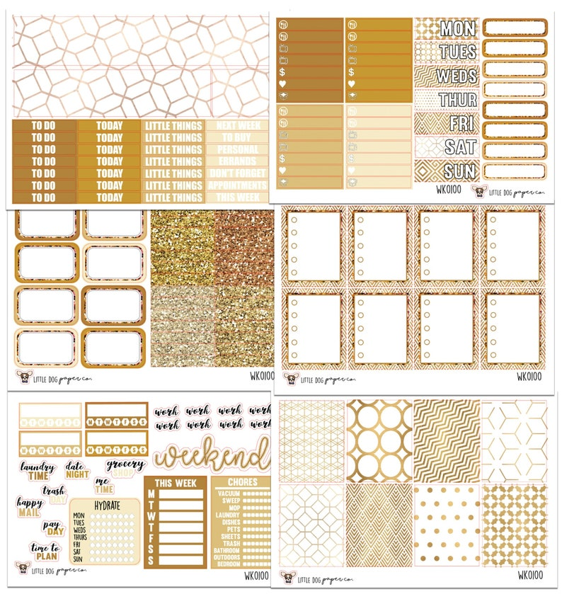 WK0100 // Golden Hour Collection // Planner Stickers image 0