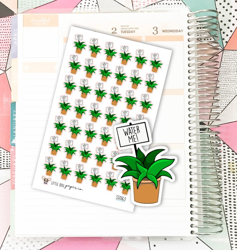 SS0163 // Water Plants // Planner Stickers image 0