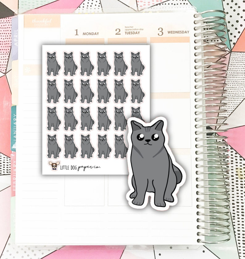 KAREN01 // Karen the Cat // Planner Stickers image 0