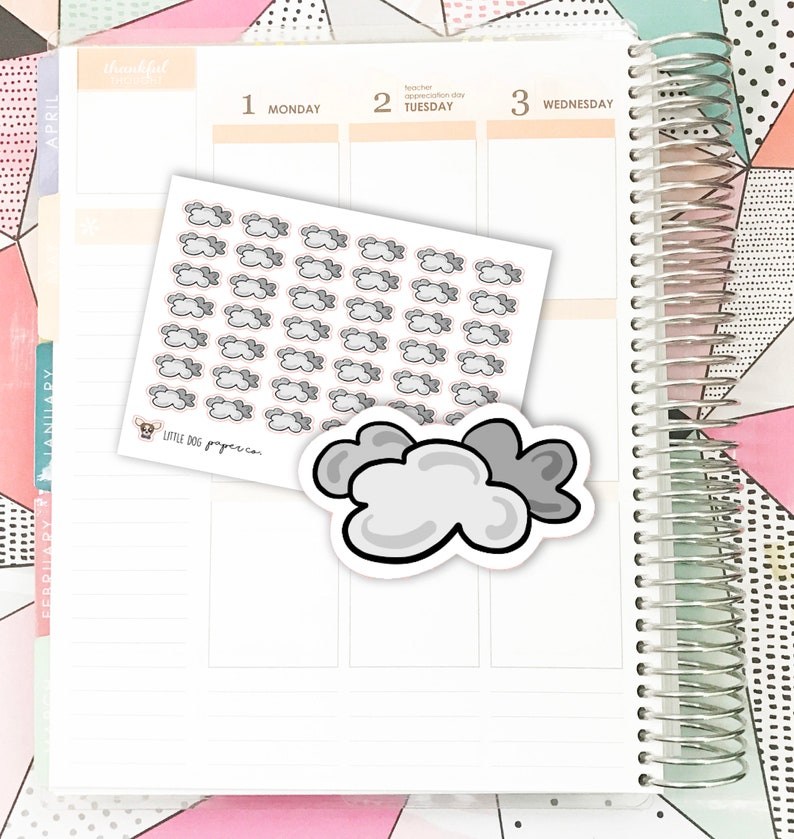 SS0167 // Cloudy Weather // Planner Stickers image 0