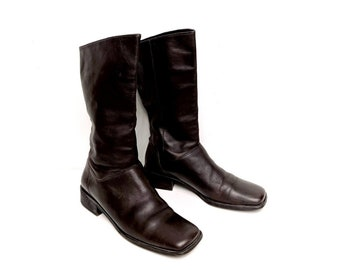 5a2938db9ab Square toe boots   Etsy