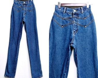 fa2540c922 Vintage 90 s Lawman Jeans Size 0 Cowgirl Jeans Western Jeans High Waist  Denim Jeans