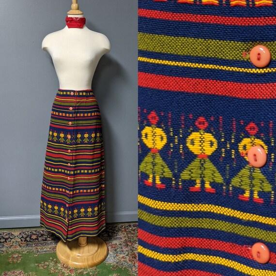 Lanz Original Woven Folk Skirt/Ethnic Woven Cotton