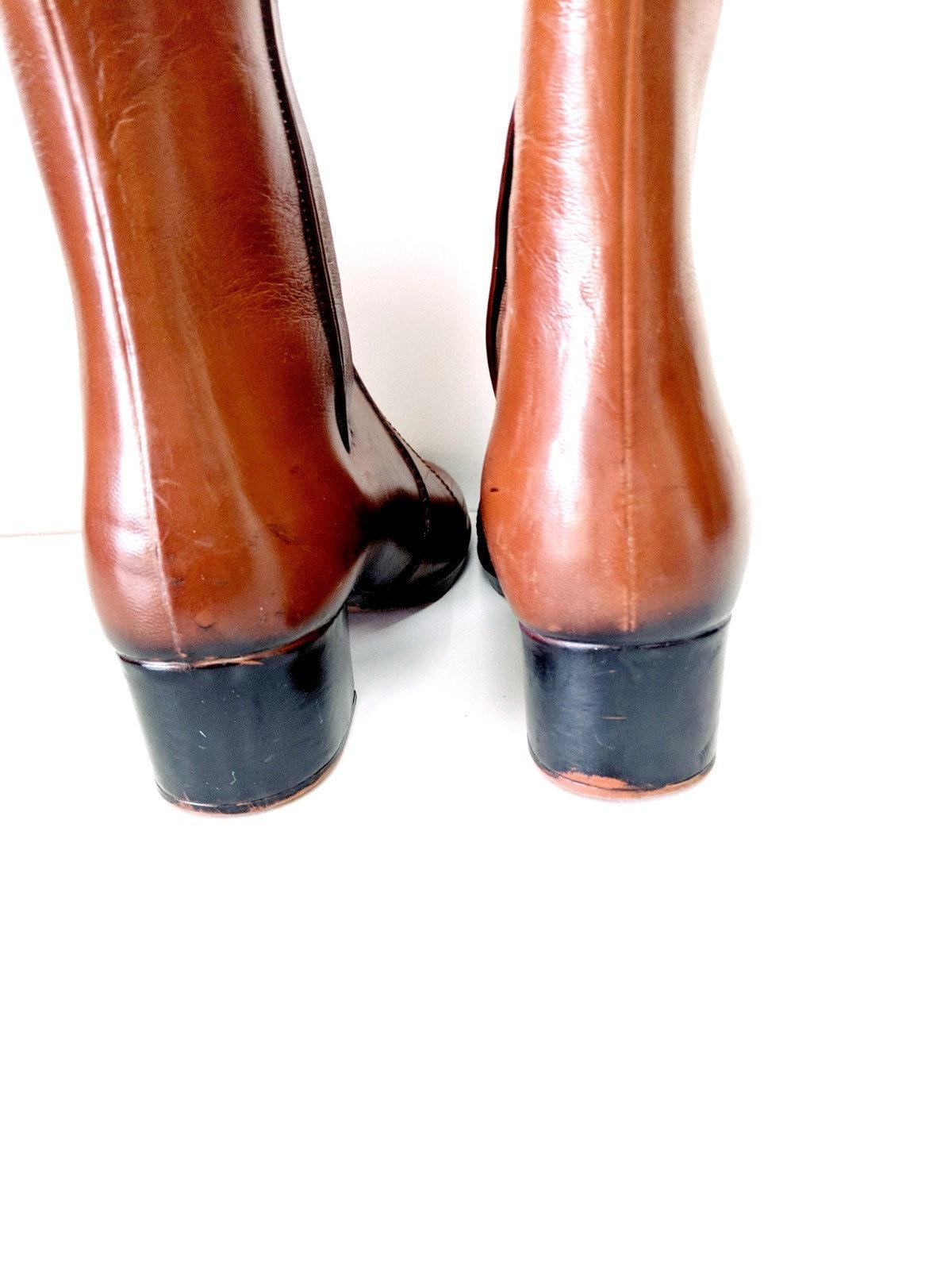 Vintage 70 de ' s Style équitation imperméable pluie bottes/Festival de 70 bottes/taille 7/femmes bottes 01bdd8