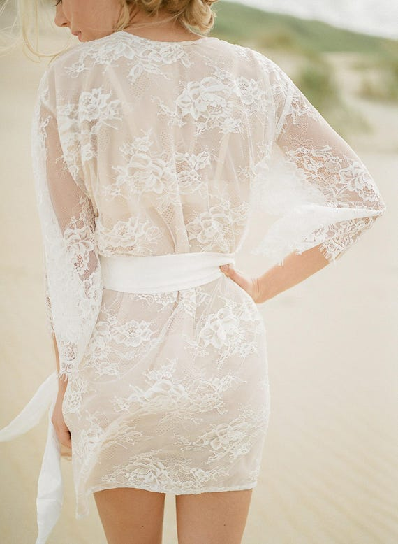 Nude lining VICTORIA lace robe Chantilly lace robe  61cc56d8f