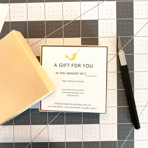 Gift Certificate to Kate Samson Design I Ready to Ship