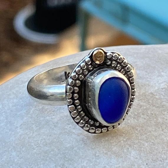 Sea Glass Ring I Statement Sea Glass Ring I Beach Glass Ring I Kate Samson Jewelry