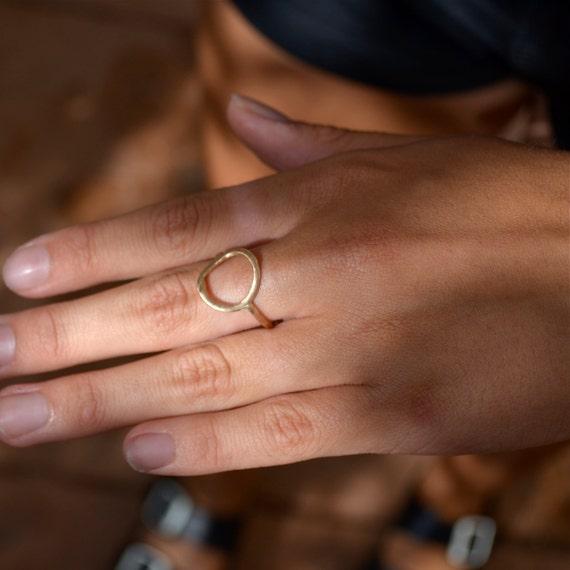 Circle Ring I 14k Gold Ring I Sterling Silver Ring I Stacking Ring