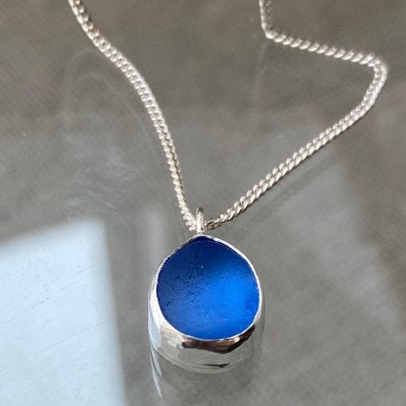 Sea Glass Jewelry | Cobalt Blue Sea Glass Pendant