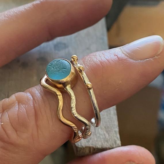 Sea Glass | Sea Glass Jewelry | Sea Glass Stacking Ring