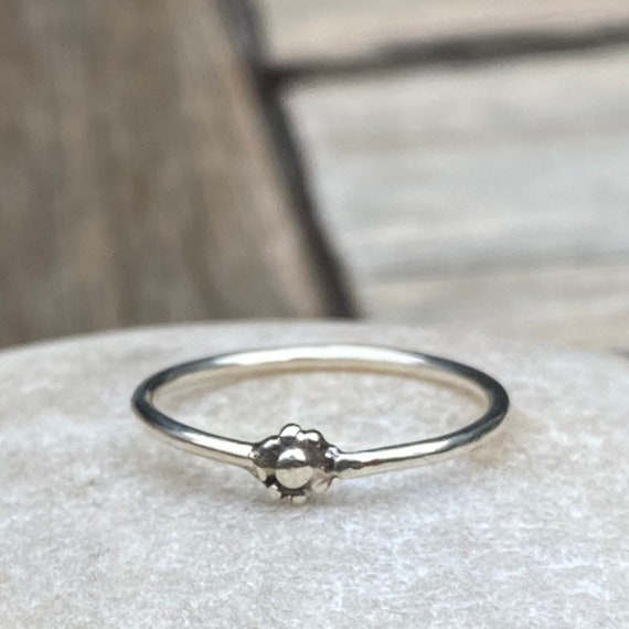 Sterling Silver Stacking Ring I Daisy Ring