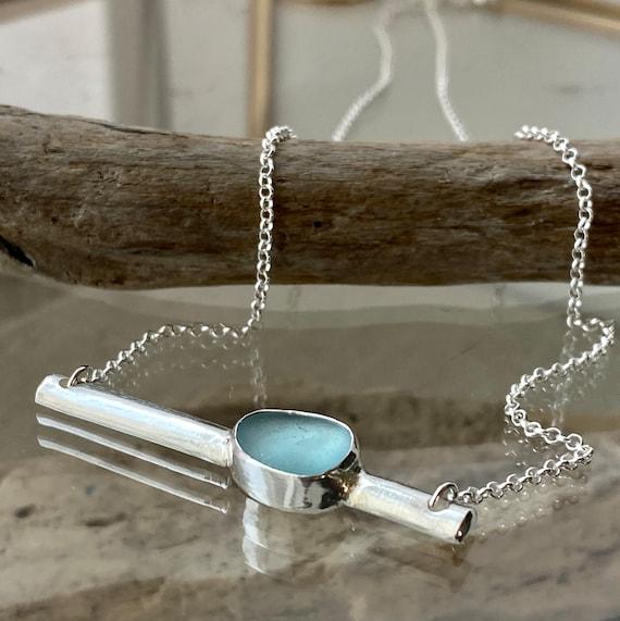Sea Glass Bar Necklace
