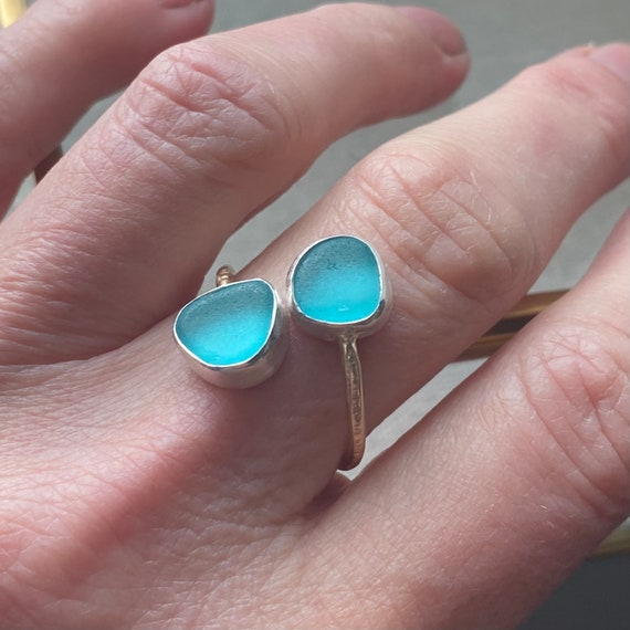 Sea Glass | Sea Glass Ring l Sea Glass Jewelry