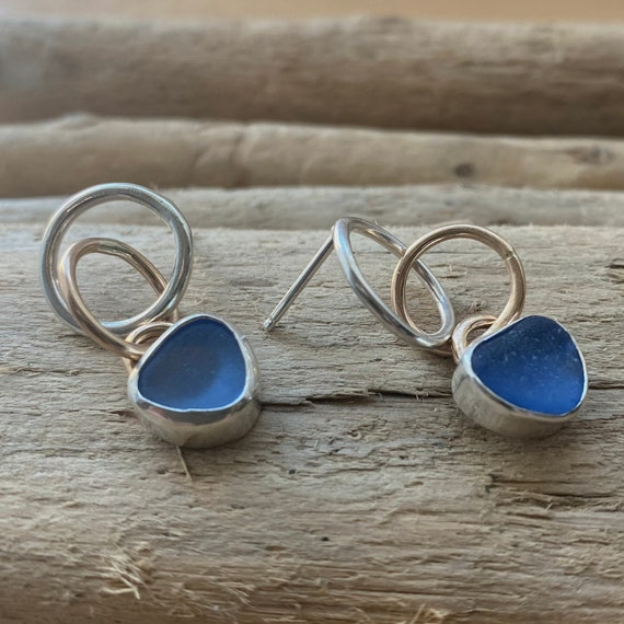 Sea Glass l  Sea Glass Jewelry  l  Sea Glass Earrings