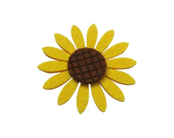 20pcs 7.75cm Foam Sunflower Ornament Charm