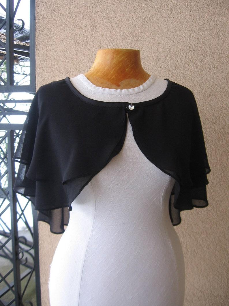 Wedding Cape Capelet Bridal Cape Bridal Cover Up Black Capelet Black Cape Wedding Wrap Bridal Capelet Shoulder Wrap Dress Cape