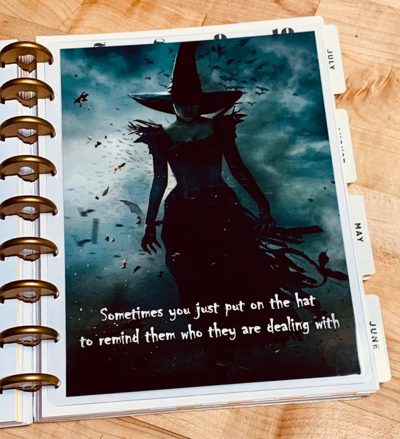 Oz Inspired Put on your Witch Hat Cover Set for use with Erin Condren Planner