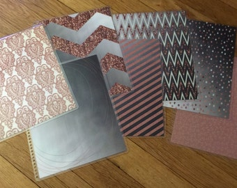 Front and Back Cover Set ROSE GOLD Collection for use with Erin Condren Life Planner