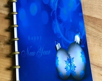 Front and Back Cover Set Happy New Year for use with MINI Happy Planner