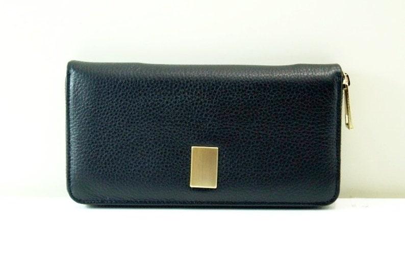 a8796dceccac0 Portmonetka Kira w czerni prawdziwej skóry portfel