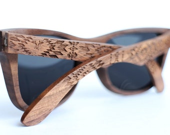 10ea760f588 Wood Sunglasses from Walnut by WOODEER  Pattern  Collection