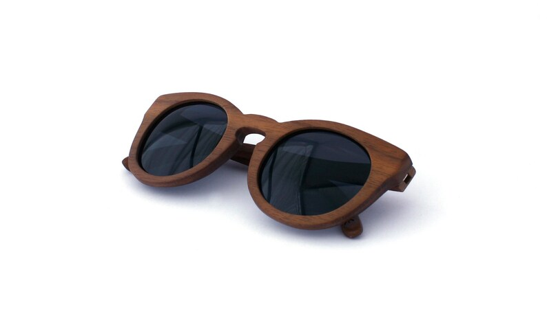 997e243443 Walnut Wood Sunglasses Circle Wooden Eyewear Polarized Man