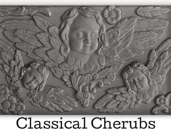 NEW RUBBER LATEX MOULD MOLD MOULDS TO MAKE LARGE CHERUB ANGEL WALL SCONCE 1