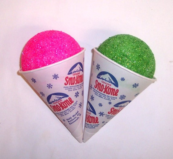 FAKE FOOD PAIR OF BUBBLEGUM /& LIME SNOW CONES SHIPS FREE IN THE USA