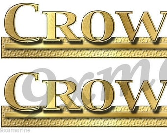 """Crownline Boats Large Gold Decal 12/"""" Sticker"""