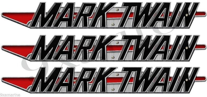 Mark Twain Boat Company Remastered 3 pc 16 Sticker Set
