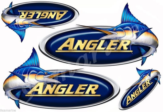 Remastered stickers for boat restoration project 4 Angler Designer Stickers