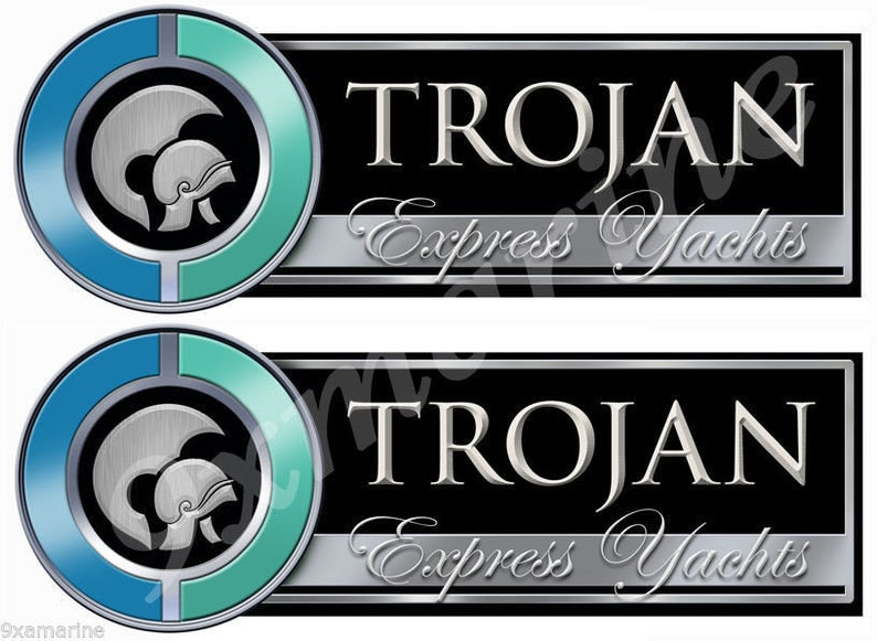 Two Trojan Boat Remastered Stickers Generic
