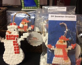 Snowman ornament kit, Do it yourself ornament kit, Childrens ornament kit, Kids craft kit