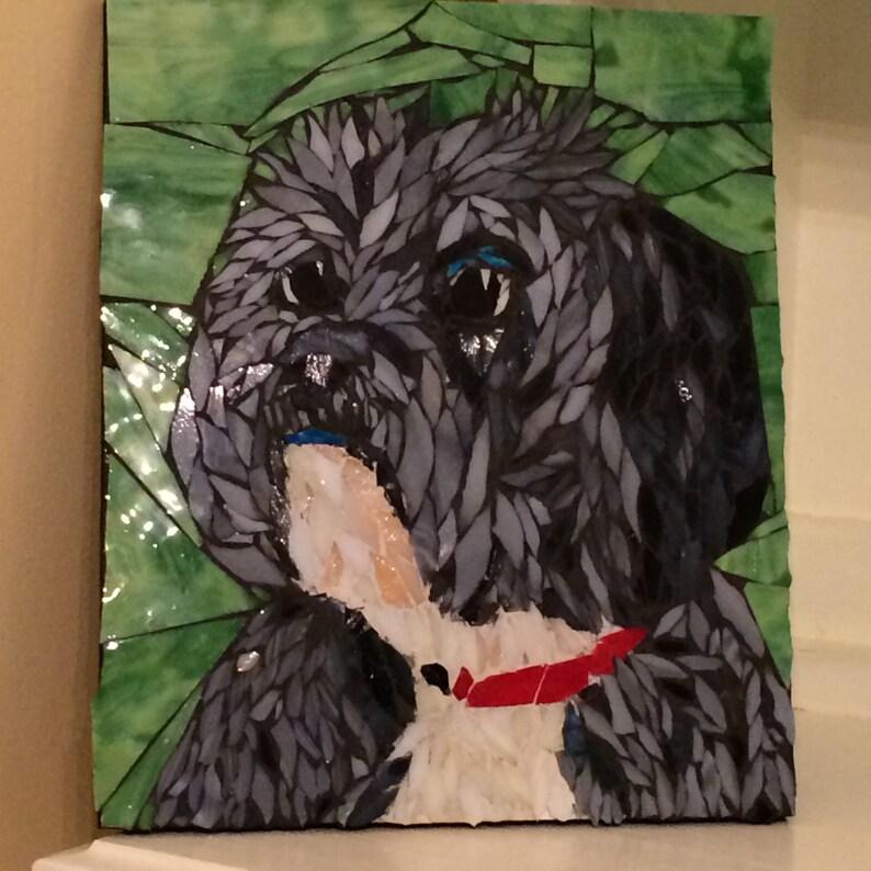 Custom Pet Portrait Dog Portrait Mosaic Pet Portrait Cat image 0