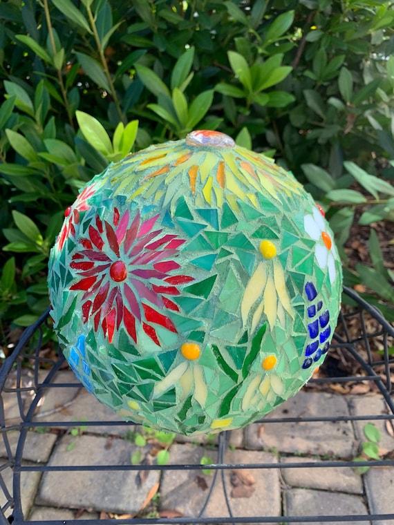 Mosaic Gazing Ball Garden Ball Garden Art Gazing Ball Etsy