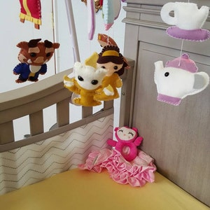 Baby Mobile Baby Crib Mobile Beauty And The Beast Princess