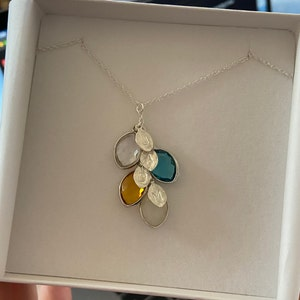 Mothers day Personalized Gift for Mom, Birthstone Necklace, Custom Necklace For Mom, Kids Initial Jewelry, Mommy Necklace, Family Necklace photo