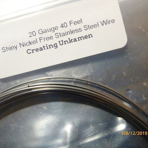 Stainless Steel Wire - Nickel Free - You Pick Gauge 8, 10, 12, 14, 16, 18, 20, 22, 28 and Length -  100% Guarantee photo