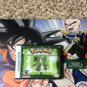 Pokemon Moemon Emerald + Custom Case GBA Gameboy Advance Anime Fan Made  Hack Edition