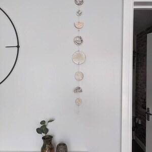 Shades of Autumn Mandala Air Dry Clay Pendant Necklace \u2013 45x27mm Organic Pear \u2013 BlackOliveGoldOrange Unisex