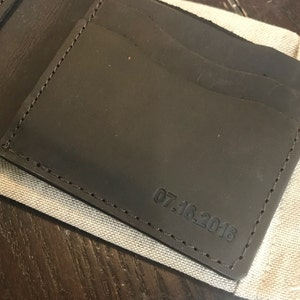 Personalized leather wallet, Mens leather wallet, mens wallet, men wallet leather, mens wallet personalized, bifold wallet, groomsmen gift photo