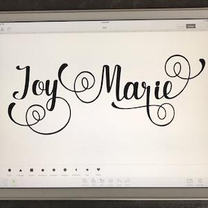 Download Full Alphabet SVG Fonts Cutfile Fancy Script cricut font ...