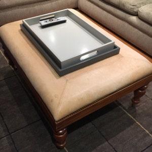 Sensational 22 X 22 Large Low Profile Square Ottoman Tray Modern Coffee Table Tray Decor Machost Co Dining Chair Design Ideas Machostcouk