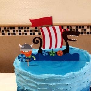 Viking Cake Topper First Birthday Smash Cake