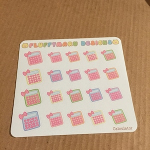 calculator planner stickers cute stickers for erin condren etsy