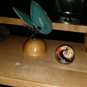 Agate Slice Butterfly, Home Decor, Boho Decor, Agate Slice, Butterfly Wings, Agate Geode, Gemstone Butterfly, GemMartUSA (BFLY) photo