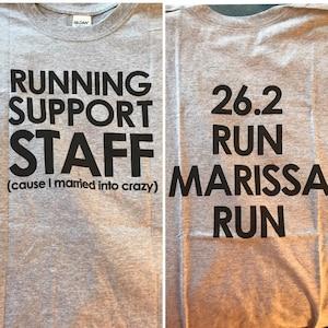 a6b25308e Sports shirt running support staff unisex tshirt cheer | Etsy