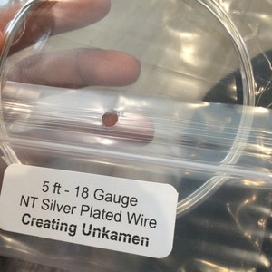 Non Tarnish Silver Plated Wire - Large Coil - You Pick Gauge 12, 14, 16, 18, 20, 21, 22, 24, 26, 28, 30, 32, 34 - 100% Guarantee photo